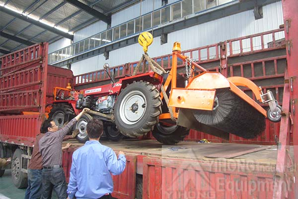 2 Sets of Tractor Mounted Road Sweepers Exported to Tanzania