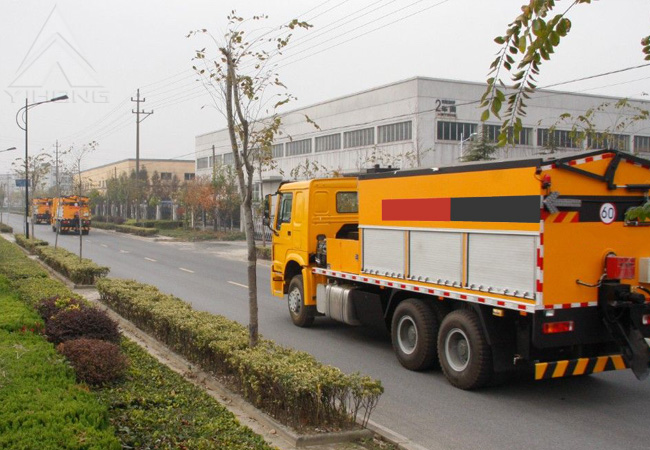 yihong road sweeper yhj5164 road sweeper vehicle Road sweepers yhj5164 - road sweeper yhj5164 sweeps roads mainly by  suction and blowing functions, and by wet and dry switch function, can be widely .